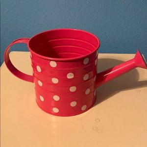 Other - Pink Polka Dot Water Can Decor